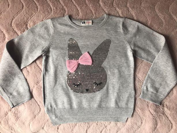 Sweterek H&M r.98/104 szary