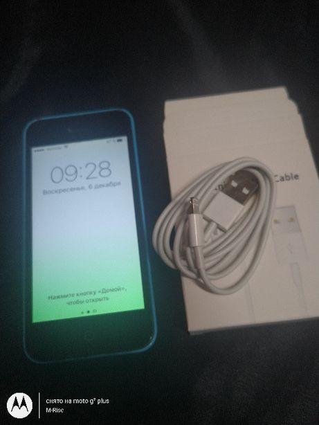 IPhone 5C 16GB A1456 синий из США Icloud чистый ! ios 10.3.3/Неверлок.