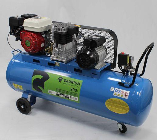 Compressor de Ar Gasolina + Elétrico 200L - 5.5HP