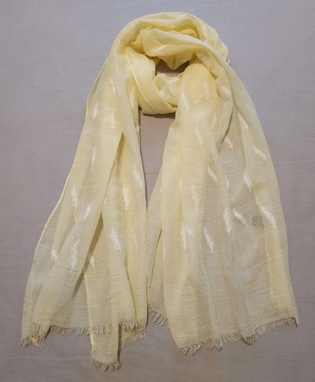 Женский лёгкий шарф / накидка / палантин / парео / жёлтый платок
