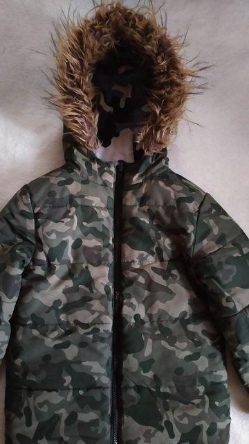 F&F двухсторонняя куртка зимняя аляска парка для мальчика 6-7 лет