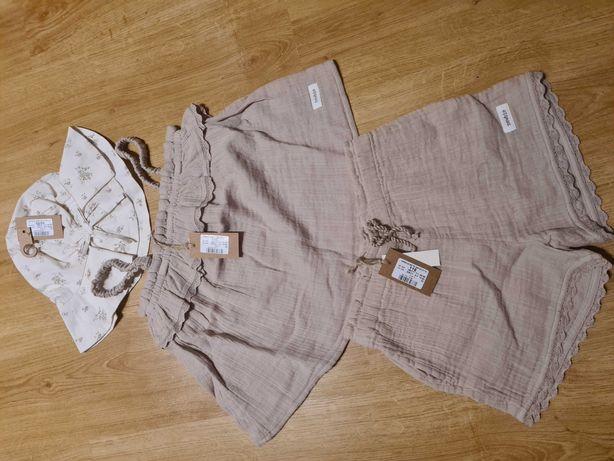 LE bluzka 116 szorty 116 kapelusz 52/54 newbie limited