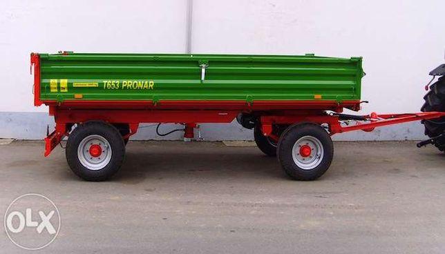 Przyczepa dwuosiowa PRONAR T653 t/ 4,1 m³ DUŻY RABAT