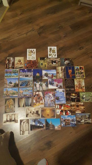 Pocztówki różne ponad 100 sztuk polskie i zagraniczne niezapisane