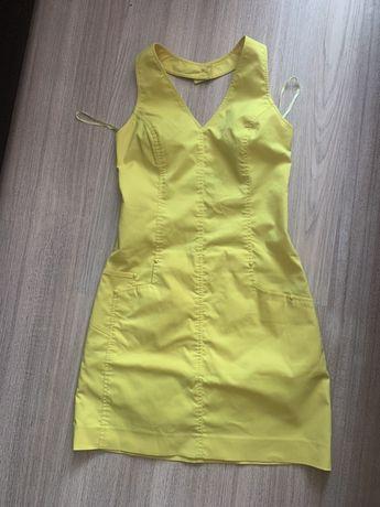 Платье летнее сарафан versace оригинал желтое dior dolce kors