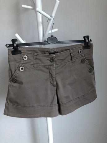 Szorty krótkie spodenki H&M szary khaki 38 M