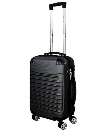 M1215 Kabinowa walizka podróżna M na kółkach CZARNA klasyczna solidna
