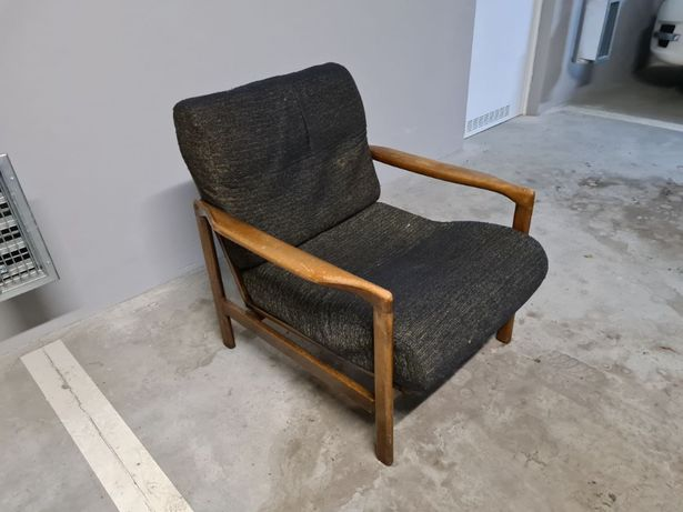Fotel proj Z Bączyk B-7522 lata 60 70 prl loft vintage