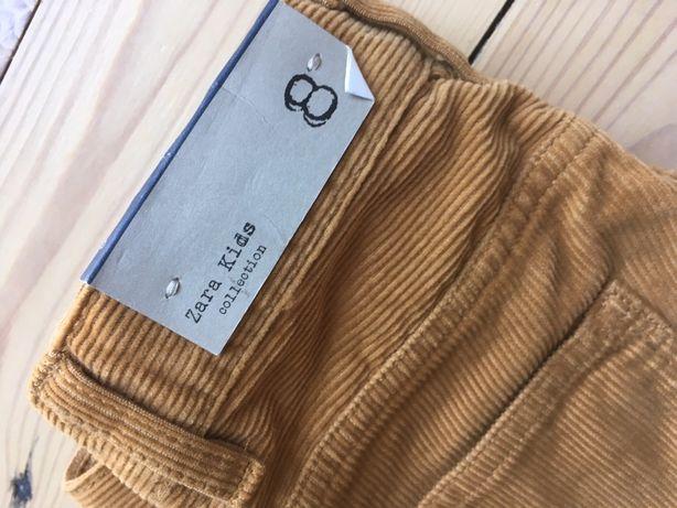 Spodnie sztruks miodowe 8 Zara 128 nowe