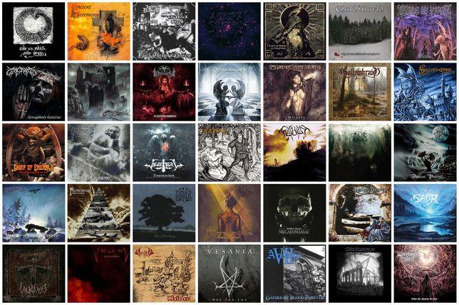 347 CDs DVDs Vinis Cassetes Black Death Gothic Doom Folk Heavy Metal