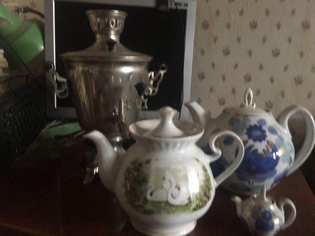Электросамовар  эс 3.0/1.0 с чайниками для заварки чая