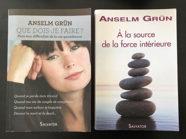 Vendo livros de Anselm Grün sobre religião e bem estar