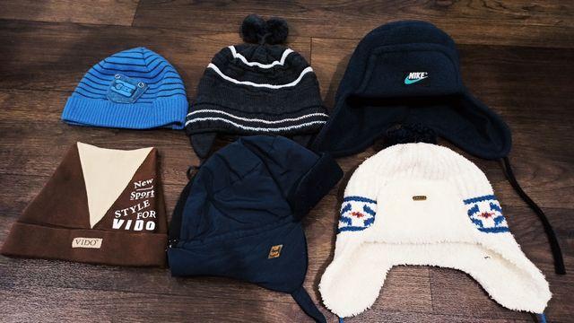 Зимняя, демисезонная шапка на 3, 4, года, 5, 6, 7 лет