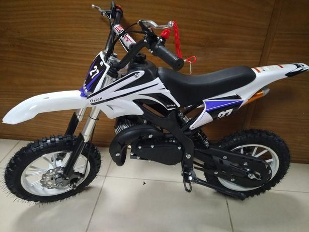 Mini motocross a gasolina 49cc modelo bainhas invertidas novas