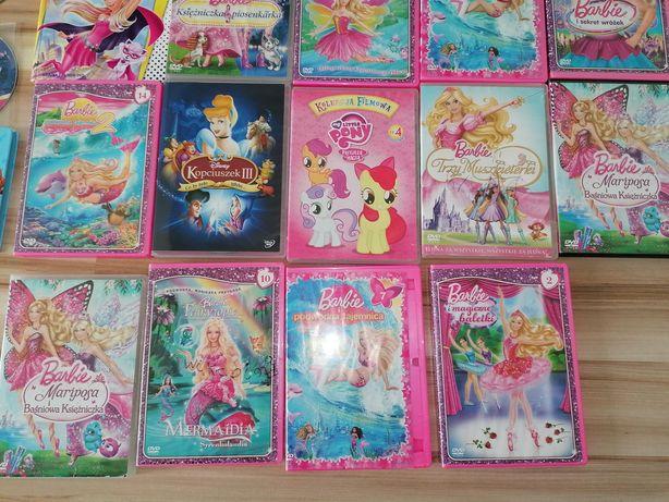 Zestaw bajek DVD Barbie my little pony inne