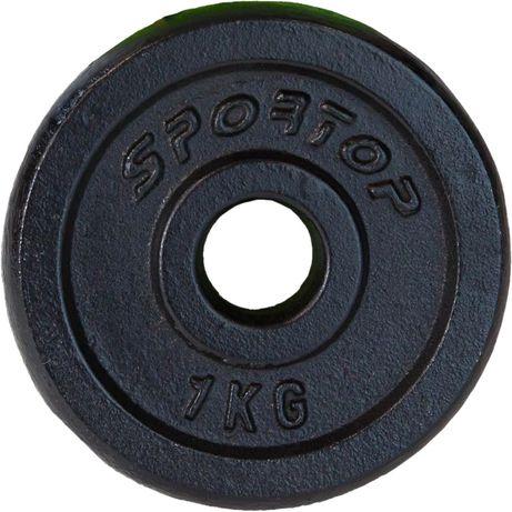 Obciążenie Żeliwne Czarne 1 Kg Sportop Fi 26,5 mm