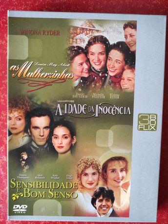 Box 3 DVDs originais