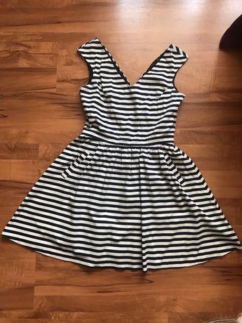 Zara sukienka w paski rozmiar M
