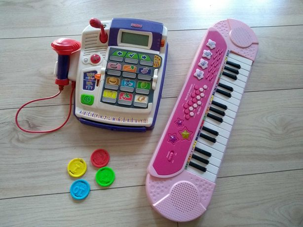 Kasa fisher price i super pianinko keyboard
