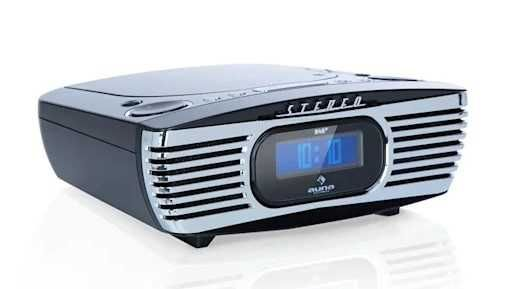 auna Dreamee DAB+ FM AUX Budzik odtwarzacz CD | radiobudzik | RETRO