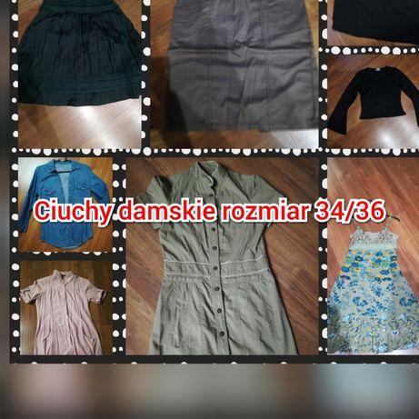 Zestaw ciuchów sukienki spódniczki promod, mohito roz. 34 damskie xs.3