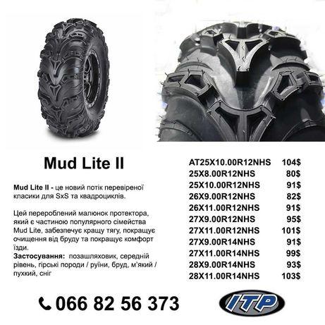Шина, резина, колеса на квадроцикл ITP Mud Lite II 25×8-12