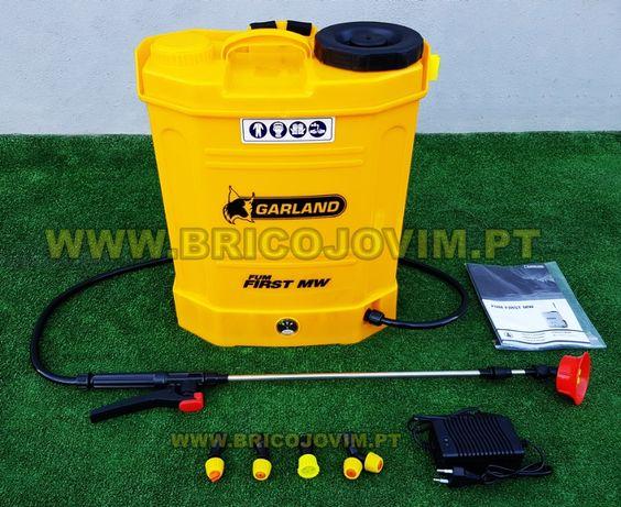 Pulverizador 16 Litros GARLAND + Bateria 12Amp + Ponteiras - NOVOS