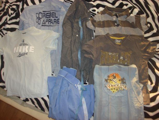 Отдам пакет подростковых вещей,рубашки к школе,футболки,шорты