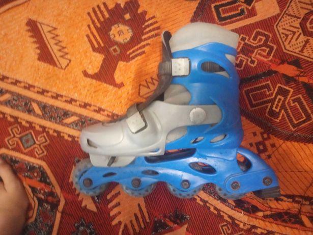 Ролики синие б/у