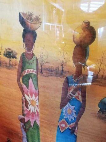 Pintura Africana, quando com 70 por 50, em bom estado
