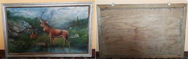 Obraz obrazy, drewniane zdobione ramy, 3 sztuki