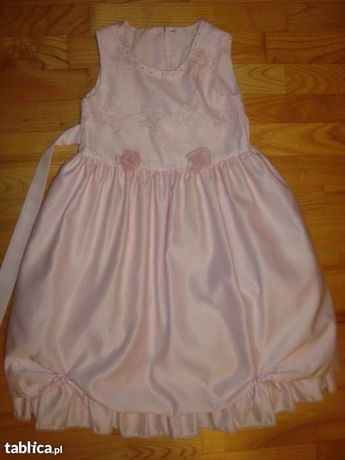 Sukienka różowa 7-8 lat wizytowa