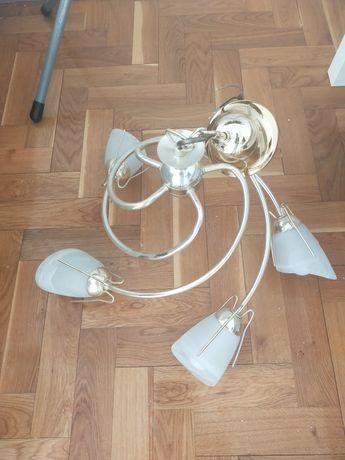Lampa sufitowa złota duża oświetlenie