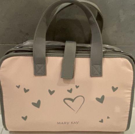 Kosmetyczka torba rozkladana na podróż na kosmetyki Mary kay