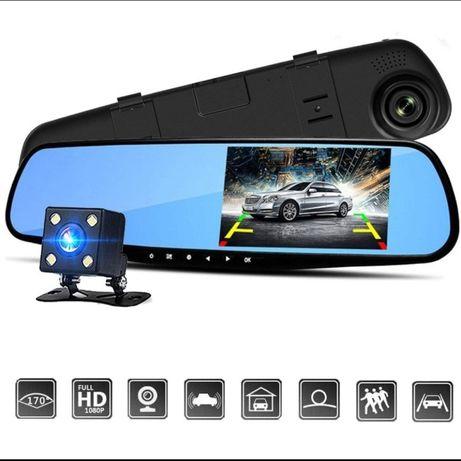 Зеркало видео-регистратор 2 камеры DVR Full Vehicle Blackbox HD