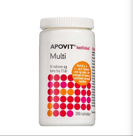 Витамины APOVIT MULTI Большая упаковка 200штук (1 т/день) ДАНИЯ