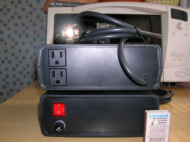 Адаптер конвертер преобразователь 220 на 110 1500вт 12.5 ампер