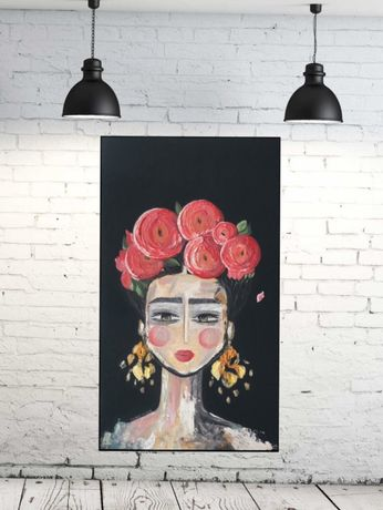 Картина масло акрил Фрида Кало