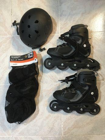 Conjunto patins em linha