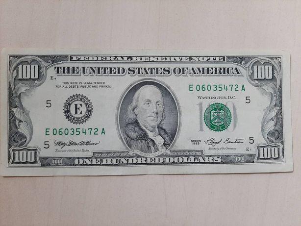 Идеальное состояние 100 долларов США 1993 года