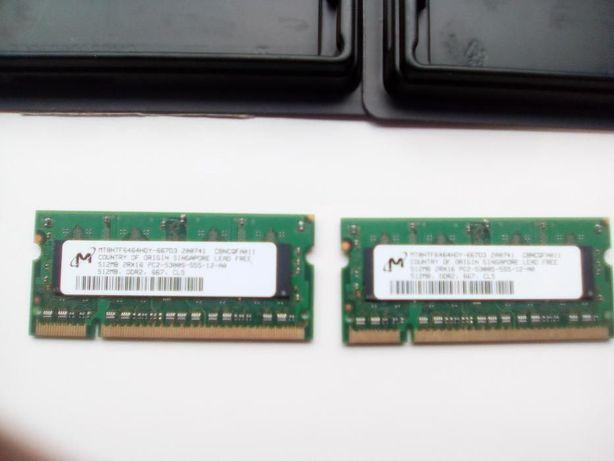 2GB (2x1GB) / 1GB (2x512MB) DDR2-667MHZ - Apple MacBook Late 2007.