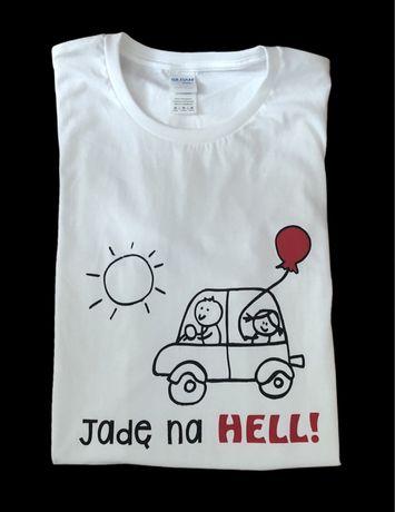 Koszulka z nadrukiem - Jadę na Hell