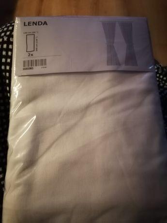 Zasłony białe Ikea LENDA