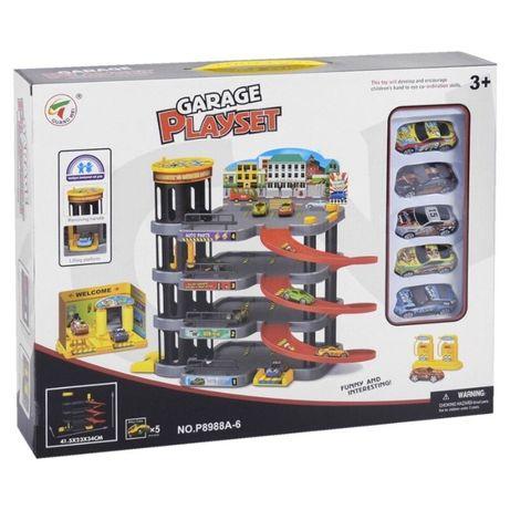 Паркинг гараж 4-х уровневый в комплекте с машинками (арт.P8988A-6)