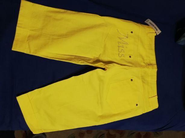 Nowe żółte spodenki 36/38 z metką