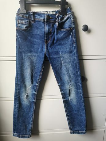 Jeansy skinny rurki dla chlopca 123 cm 6-7 lat