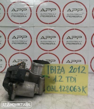 Borboleta de admissão Polo 6R, Ibiza 6J, Skoda Fabia 2012, 1.2 TDI, ref 03L128063K