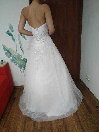 Шикарное свадебное вечернее платье абсолютно новое