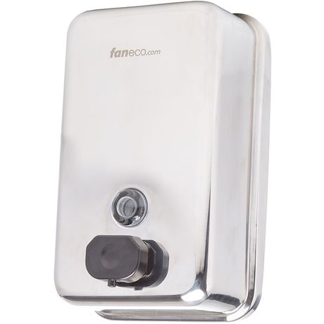Dozownik do mydła w płynie Faneco DUO 1 litr stal połysk