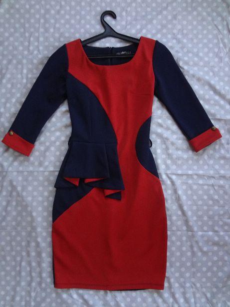 Стильное платье-футляр, размер 42